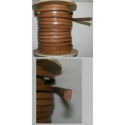 CORDON CUERO MACIZO PARA MAQUINA COSER 7mm