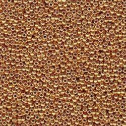 MIYUKI ROCALLA 8/0 DURACOAT GALVANIZED YELLOW GOLD 94203 (100 gr )