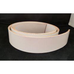 TIRA VAQUETILLA BLANCO 4 cm DE ANCHO Y 3 mm GROSOR