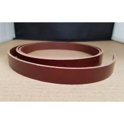 TIRA VAQUETILLA COÑAC 2 cm DE ANCHO Y 3 mm GROSOR