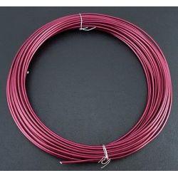 CABLE ALUMINIO 2mm (12Mt) 100gr. ROSA