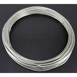 CABLE ALUMINIO 2mm (12Mt) 100gr.PLATA
