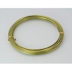 CABLE ALUMINIO 2mm (12Mt) 100gr. DORADO
