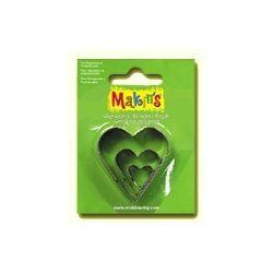 MAKIN S SET 3 CORTADORES CORAZONES MK36007