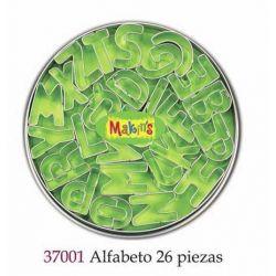 MAKIN S CORTADORES ALFABETO 26 PIEZAS MK37001