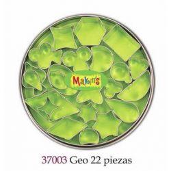 MAKIN S CORTADORES GEO 22 PIEZAS MK37003