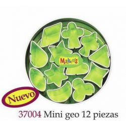 MAKIN S CORTADORES MINI GEO 12 PIEZAS MK37004
