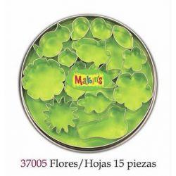MAKIN S CORTADORES FLORES/HOJAS 15PIEZAS MK37005