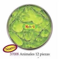 MAKIN S SET CORTADORES ANIMALES 12PIEZAS MK37008
