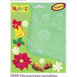 MAKIN S MOLDES DECORACIONES NAVIDEÑAS MK39008