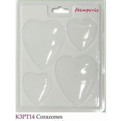 MOLDES CORAZONES K3PT14