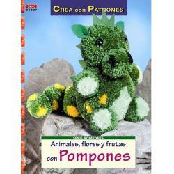 POMPONES Nº7 ANIMALES FLORES Y FRUTAS.255007