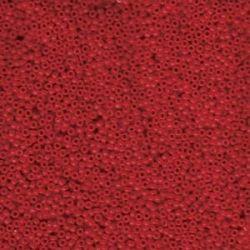 MIYUKI ROCALLA 15/0 (100gr)OPAQUED RED 15-91684