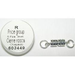 CIERRE ROSCA CHAPADO 3mm 603449