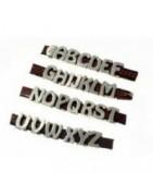Letras 8mm x 2mm Zamak
