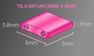 Tila Miyuki 5mm x 5mm