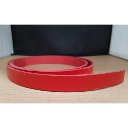 TIRA VAQUETILLA ROJO 2,5 cm  DE ANCHO Y 3 mm GROSOR
