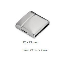 CIERRE PULSERA IMAN 20mm x 2mm