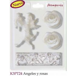 MOLDES ANGELES Y ROSAS K3PT24