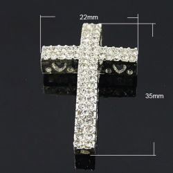CRUZ STRASS PLATA 35X22X6mm...