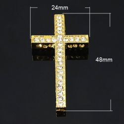 CRUZ  ORO STRASS 48X25X4mm...
