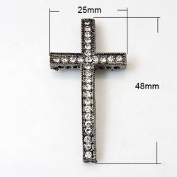 CRUZ NEGRA STRASS 48X25X4mm...