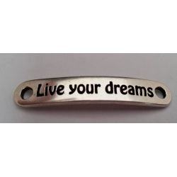 "CHAPA 35X6MM CON AGUJERO DE 2.5MM  ""Live your dreams"""